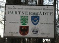 Partnership shield in Ilmenau, Germany