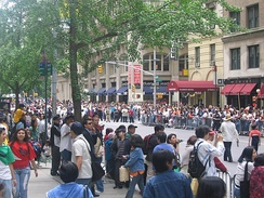 Crowd at the Philippine Independence Day Parade in New York City