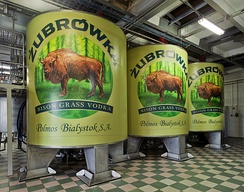 "The famous bison grass vodka called ""Żubrówka"" is made in Białystok at the Polmos Factory"