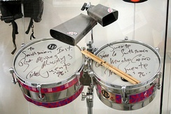 Timbales on display at the Smithsonian