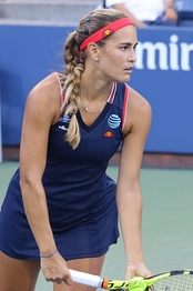 Puerto Rican tennis player Monica Puig at the 2016 US Open.