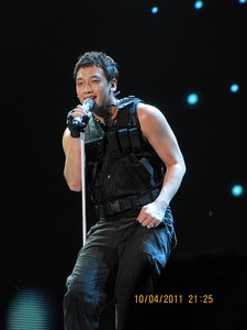 Rain at Sepang International Circuit F1 2011 post-party concert, Malaysia