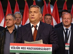 Hungarian Prime Minister Viktor Orban has been cited as a populist leader who has undermined liberal democracy on taking power[134]