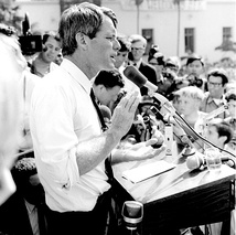 Robert Kennedy campaigns in Los Angeles (photo by Evan Freed)