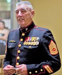 R. Lee Ermey, in his USMC full-dress uniform.