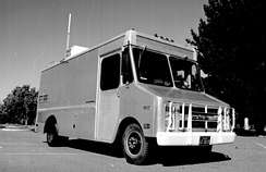 The Packet Radio Van, developed by Don Cone, was the site of the first three-way internetworked transmission.