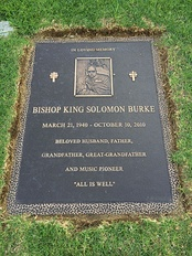Grave of Solomon Burke at Forest Lawn Hollywood Hills