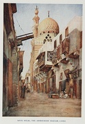 Souk Silah, the Armourers' Bazaar, Cairo, from D.S. Margoliouth, Cairo, Jerusalem, & Damascus: three chief cities of the Egyptian Sultans, 1907