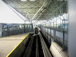 London Stansted Airport people mover, showing rail switch