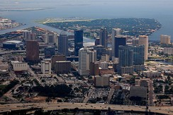 Downtown Tampa as seen from above