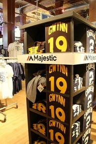 Gwynn No. 19 shirts on display