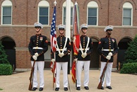 The Color Guard of the U.S. Marine Corps at the  Marine Barracks in Washington, D.C. in June 2007.