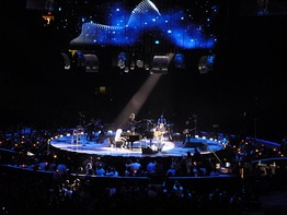 "James Taylor and Carole King perform ""Up on the Roof"" together in 2010 during their Troubadour Reunion Tour."