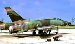 "The famous ""triple null"" F-100D 56-3000, while assigned to the 182d TFS in the early 1970s."