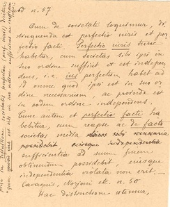 A rare 1899 handwriting of Eugenio Pacelli with text in Latin