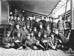 "Reinforcements to No. 1 Squadron Australian Flying Corps on 25 July 1916 on board P & O ""Malwa"" on their way to Egypt"