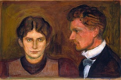 Harald Nørregaard (painted by Munch in 1899, National Gallery) was one of Munch's closest friends since adolescence, adviser and lawyer[65]