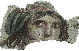 "The ""Gypsy Girl"" is in Zeugma Mosaic Museum."