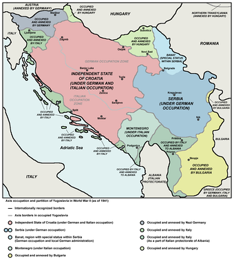 Serbia after Kingdom of Yugoslavia's occupation by the Axis and neighbouring puppet states during World War II