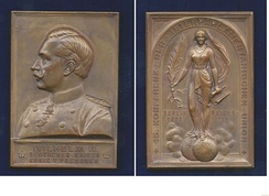 Art Nouveau plaque-medallion for the 15th Inter-Parliamentary Conference 1908 in Berlin