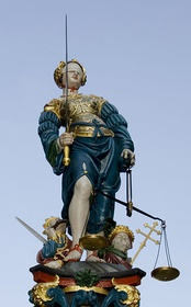 Statue of Lady Justice by Hans Gieng, 1543