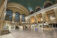 The main concourse of Grand Central Terminal, New York Central's most notable landmark