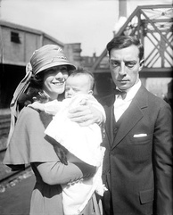 Keaton with Natalie Talmadge and Buster Keaton, Jr. (1922)