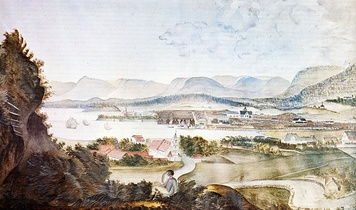 Christiania in 1814, by M. K. Tholstrup