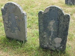 Two Colonial era graves in Pemaquid, Maine