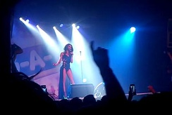 Conchita performing at London's gay superclub Heaven in May 2014