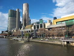 The Crown Casino and Entertainment Complex contributes AU$2 billion to the Victorian economy annually.[161]