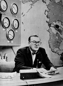 Dave Garroway, the program's first host, on the air