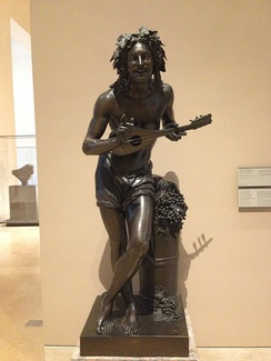 Grape-picker Extemporizing (Souvenir of Naples) by Francisque Joseph Duret, 1833. The mandolin was a folk instrument for most of the 19th century.