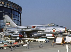 Kuwait Air Force Lightning F.53 in 1969 with both underwing and overwing SNEB pods