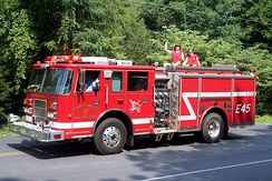 Earlysville Volunteer Fire Company Engine 45 at the Independence Day Parade.