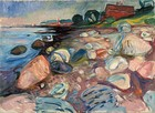 Shore with Red House, 1904, oil on canvas, 69 × 109 cm, Munch Museum, Oslo