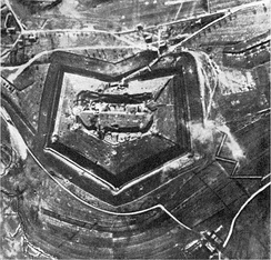 Fort Douaumont before the battle (German aerial photograph)