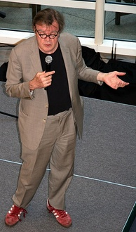 Keillor in 2010, wearing his signature red shoes