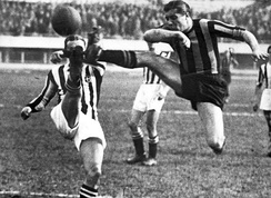 Scene from the Derby d'Italia in 1930