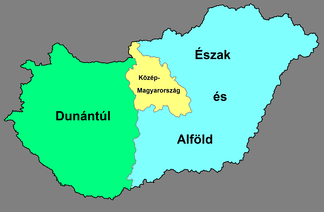 NUTS 1 regions of Hungary