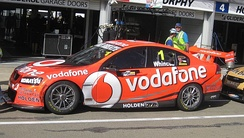 The Holden VE Commodore of Whincup at the 2012 Clipsal 500 Adelaide