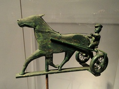 Horse and sulky weathervane, Smithsonian American Art Museum