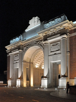 The classically inspired Menin Gate in Ypres
