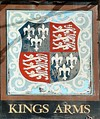 The Royal Arms of England as depicted on the Kings Arms pub in Blakeney, Norfolk