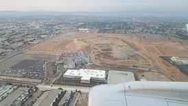 Aerial view of the site of Los Angeles Stadium at Hollywood Park, the future home of the Los Angeles Rams and Los Angeles Chargers. It is expected to be completed for the 2020 NFL season. It will also host the main opening ceremony for the 2028 Summer Olympics.