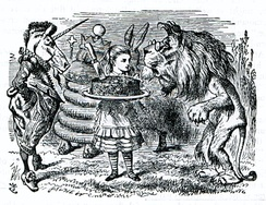 John Tenniel's illustration for Through the Looking-Glass.