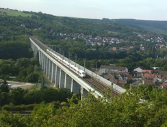 High-speed rail line Würzburg – Hanover crossing the river Main north of Würzburg