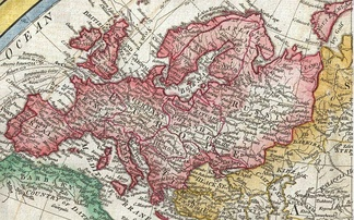 Map of Europe in 1794 Samuel Dunn Map of the World