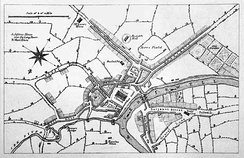 A map of Manchester c. 1650