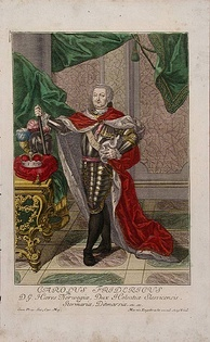 Coloured engraving by Martin Engelbrecht from 1745.